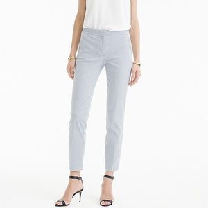 J.Crew Paley pant in stretch seersucker size 12